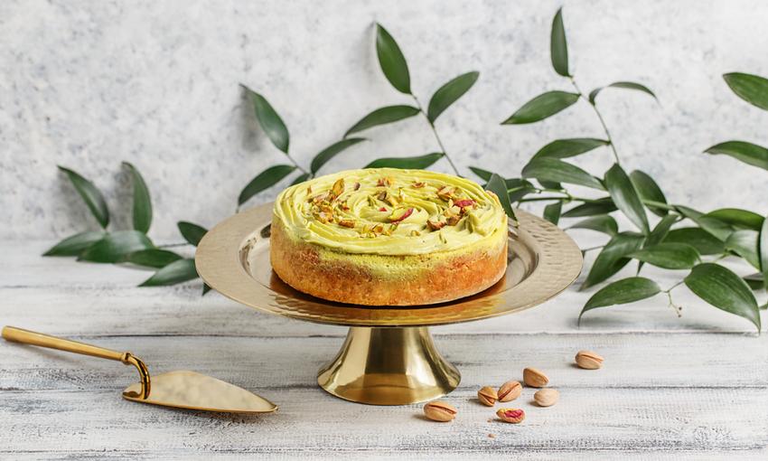 torta caprese pistacchio