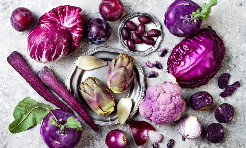 verdura viola proprietà