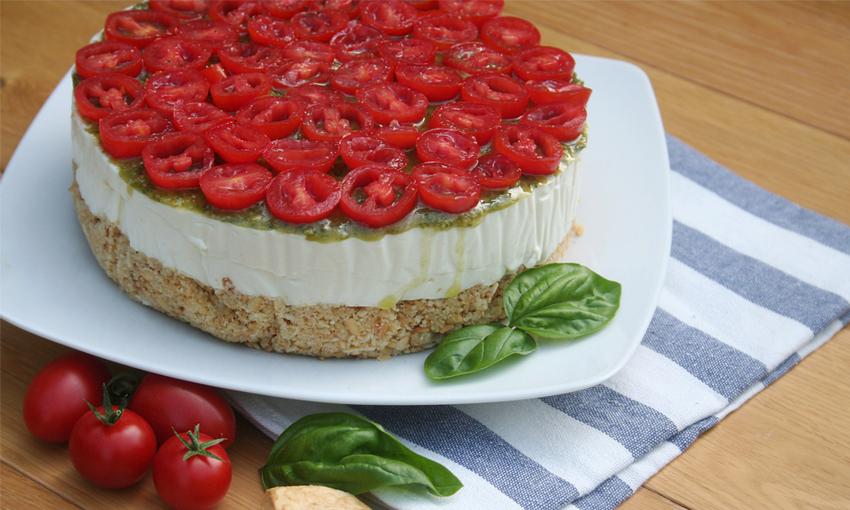 cheesecake pesto pomodori