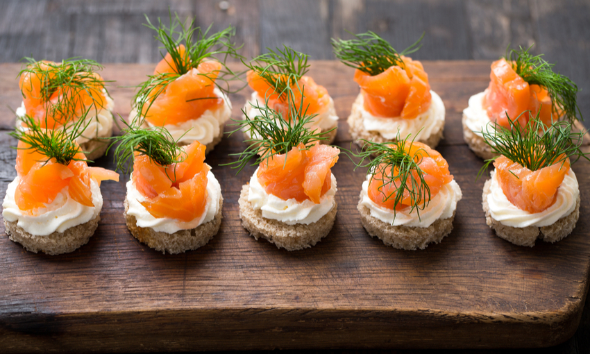 mini cheesecake salmone