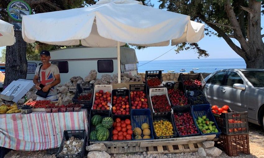 venditori di frutta albania
