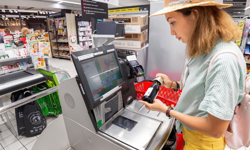casse automatiche supermercato