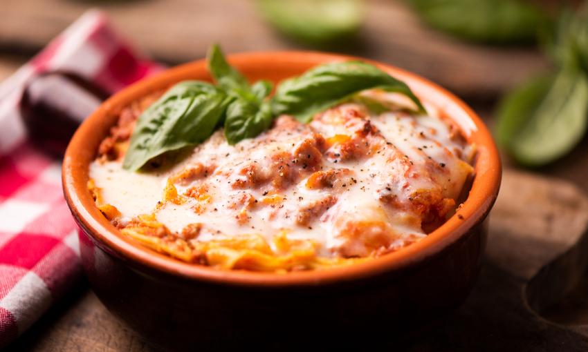 lasagne con zucca e prosciutto