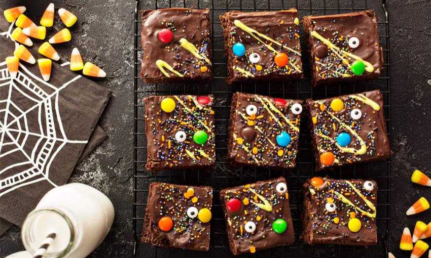 brownies decorati per Halloween