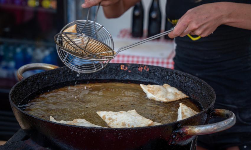 cottura dello gnocco fritto