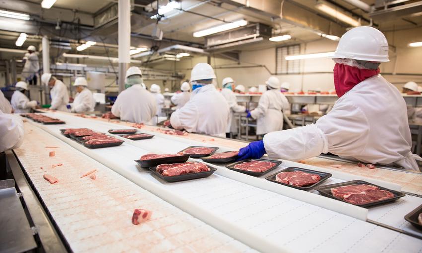 impacchettamento industriale carne