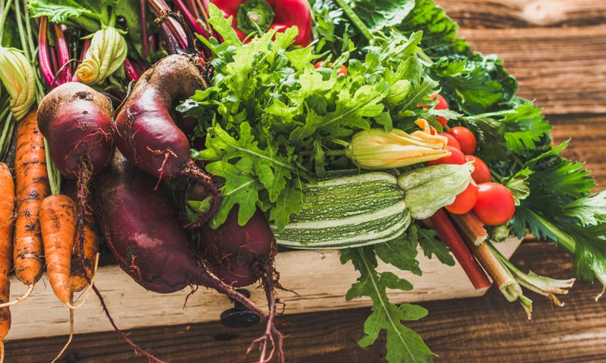 verdure fresche di stagione