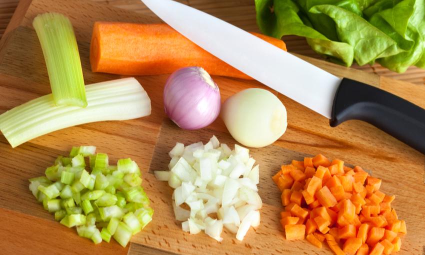 verdure a dadini per soffritto