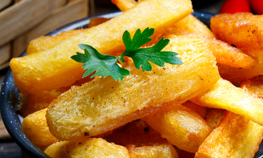 patatine di yucca