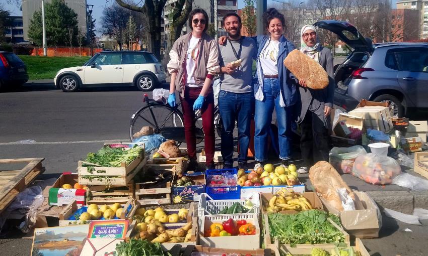verdura e frutta recuperate dall'associazione Recup