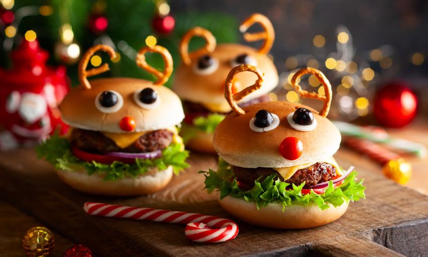 mini burger natalizi