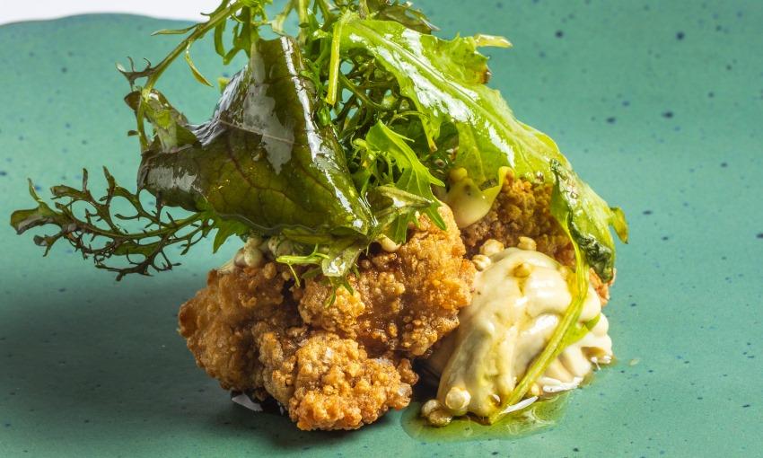 pollo con ostriche e miele