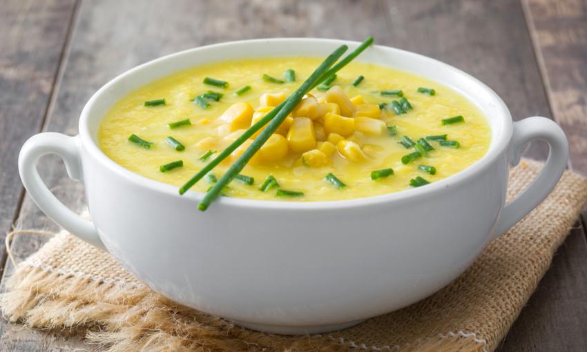 zuppa di quinoa e mais