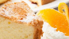 chiffon cake arancia