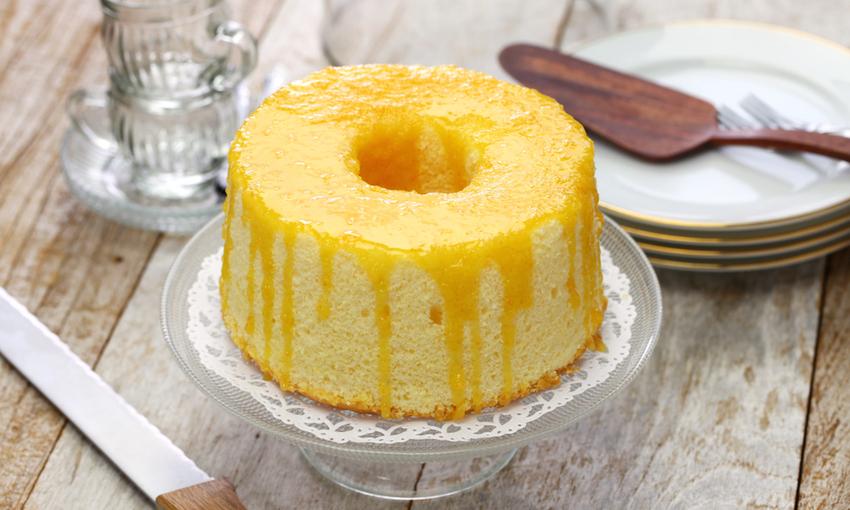 chiffon cake glassa