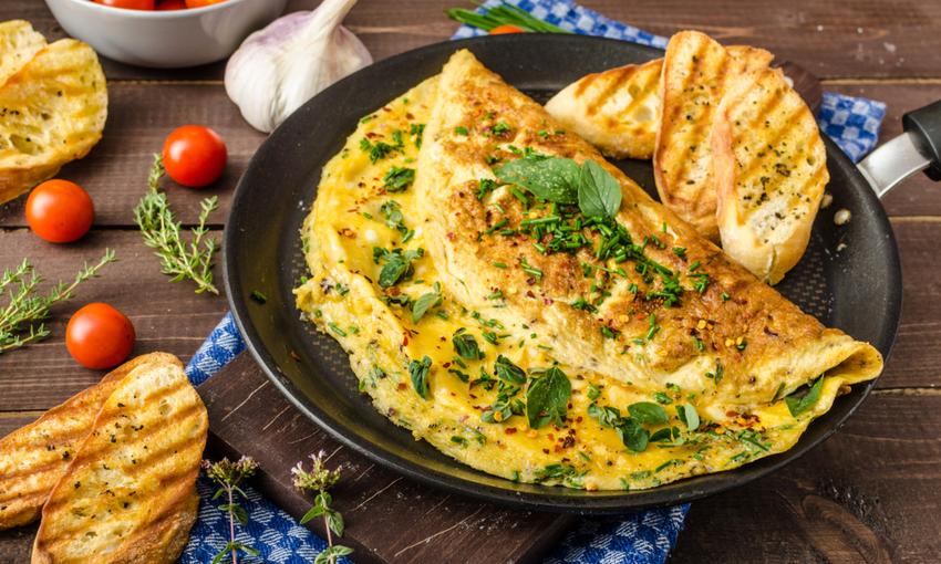 omelette erba cipollina
