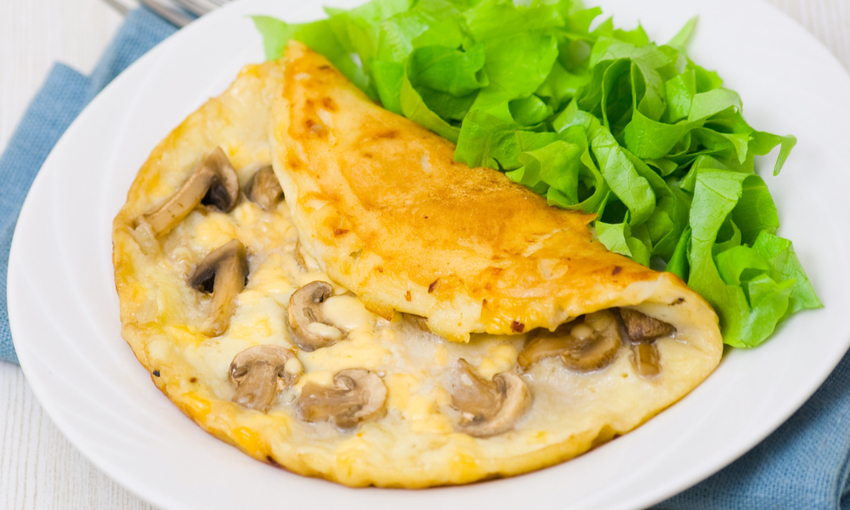 omelette funghi