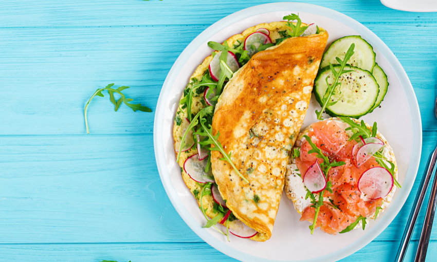 omelette salmone