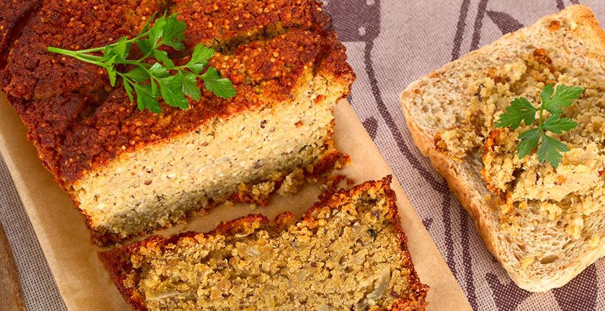 polpettone in crosta con lenticchie