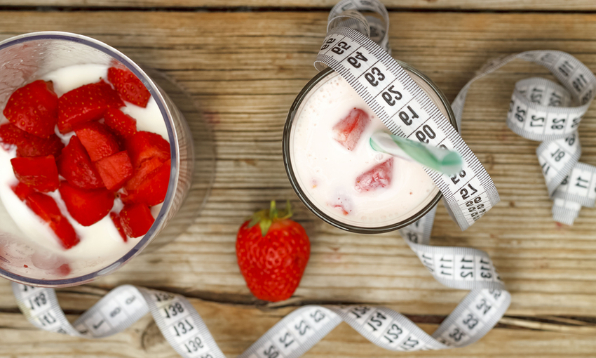 Frullati fragole per diete liquide