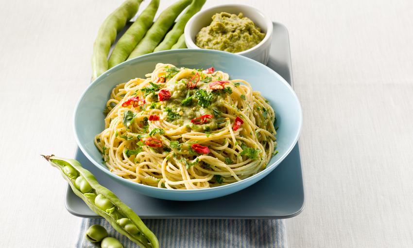 spaghetti fave