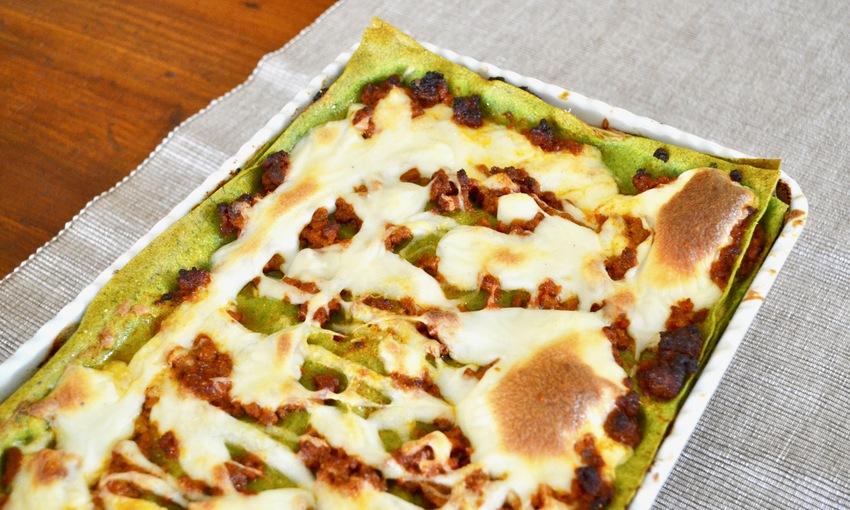 Lasagne verdi alla bolognese teglia