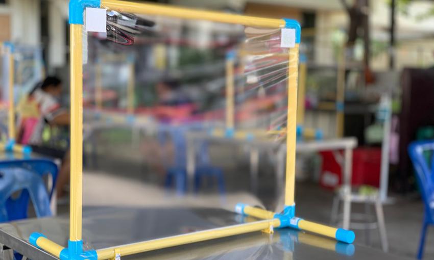 Barriere in plexiglass