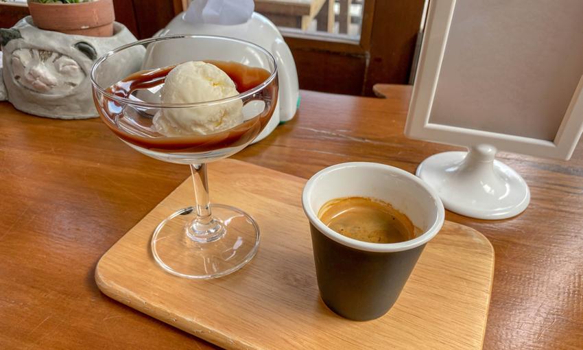 affogato al caffe homemade