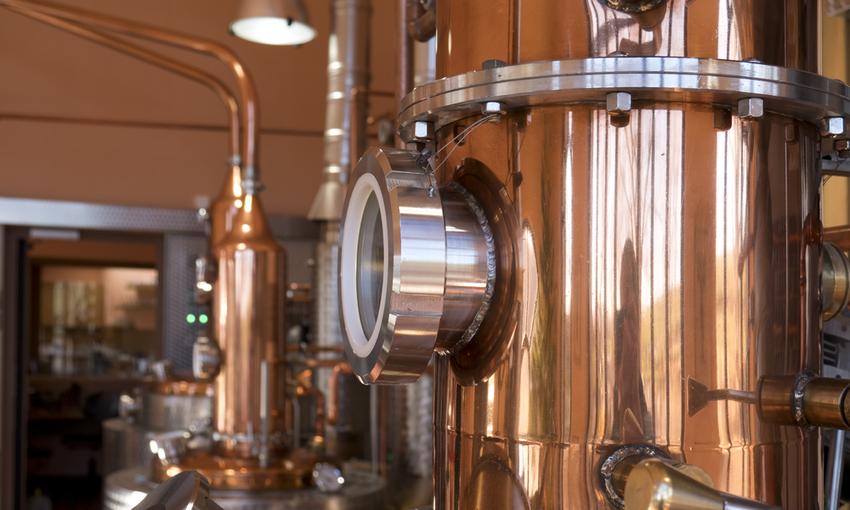Contenitori di rame distillazione