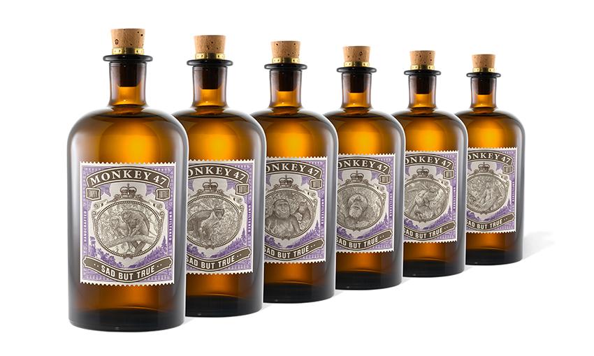 Bottiglie di gin Monkey 47