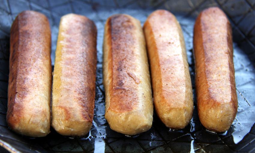 Cottura salsicce vegan