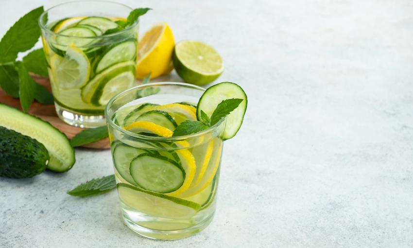 Tè verde menta e cetriolo
