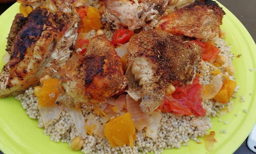 Maftoul pollo