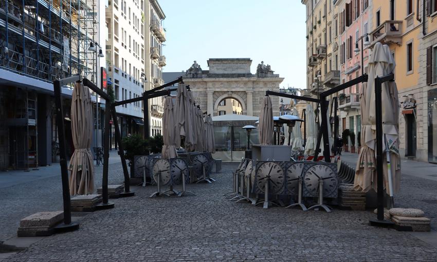 Ristorante Milano vuoto