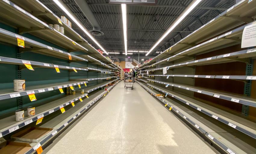 Supermercato vuoto coronavirus