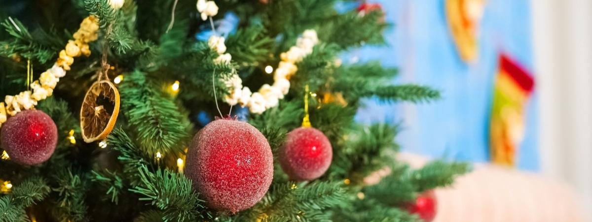 decorazioni natalizie con cibo