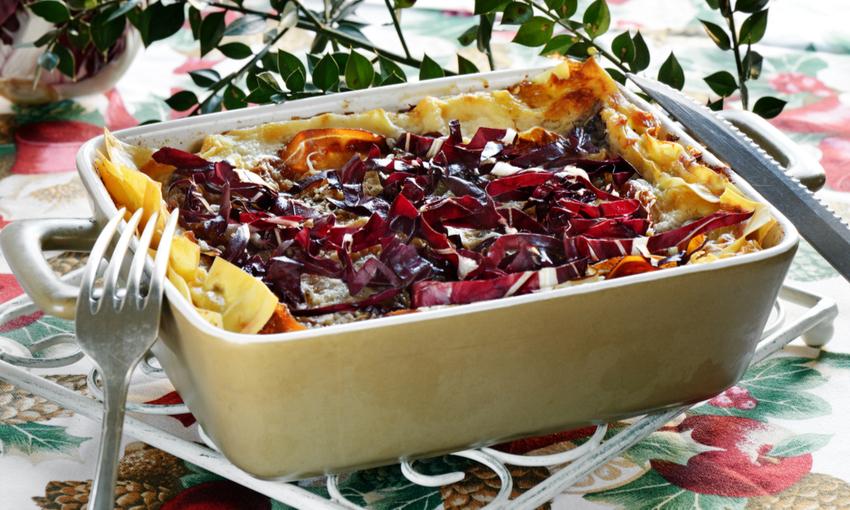 lasagne radicchio vegetariane