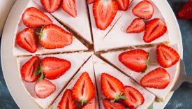 cheesecake bianca con le fragole