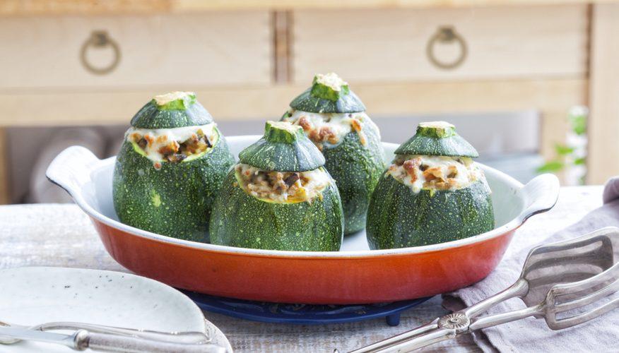 zucchina ripiena riso venere