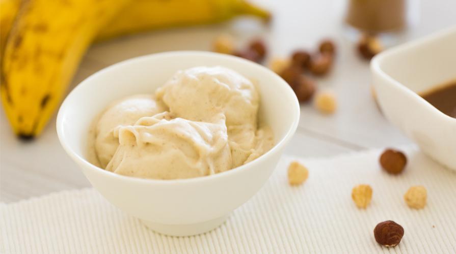 gelato banana vegetale