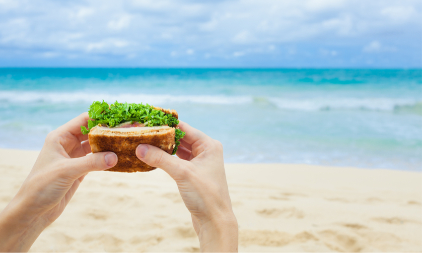 panino in spiaggia