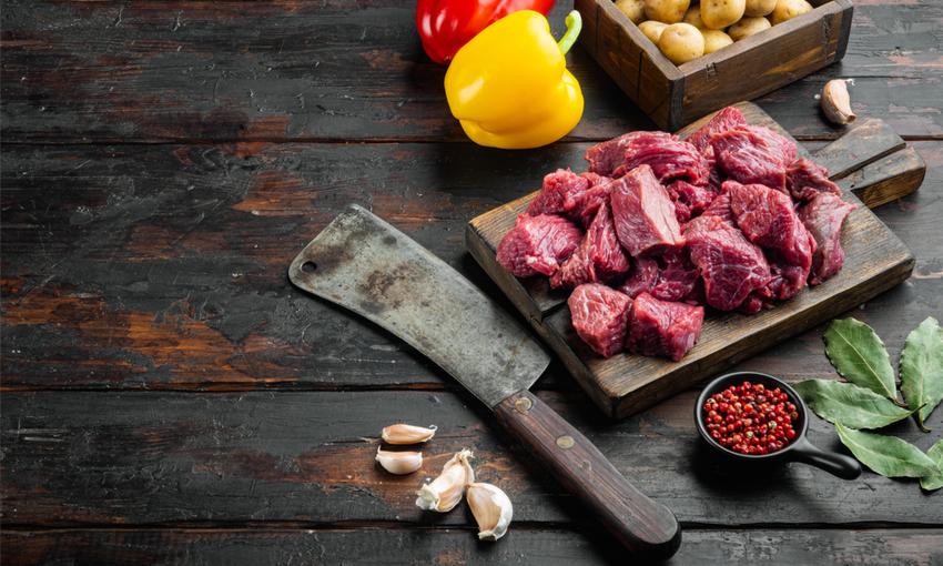 tagli di carne spezzatino