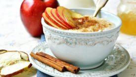 porridge avena mela e cannella